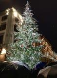 Florence Christmas Tree und Regenschirme lizenzfreies stockbild
