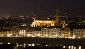 Florence - chruch Santa Croce Royalty Free Stock Images