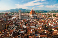 Florence. Church in the center of the Florence stock image