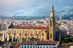 Florence church panoramic view, Firenze, Tuscany, Italy Royalty Free Stock Photos