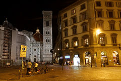Florence city center by night Stock Images
