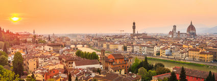 Florence City During Sunset Stock Image