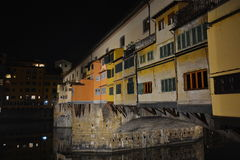Florence city lights by night, Italy Royalty Free Stock Images