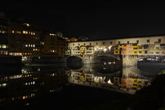 Florence city lights by night, Italy Stock Photo