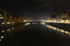 Florence city lights by night, Italy Royalty Free Stock Photos