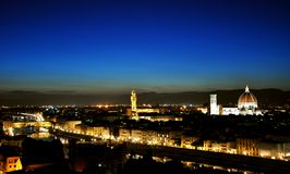 Florence city by night , Italy Stock Photography