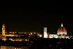 Florence city by night , Italy Royalty Free Stock Image