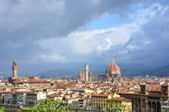 Florence city panorama , Italy  Royalty Free Stock Photo