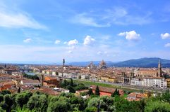 Florence city panorama , Italy  Stock Image