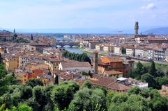 Florence city panoramic view , Italy royalty free stock photography