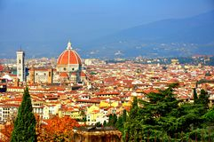 Florence city panoramic view , Italy Royalty Free Stock Images