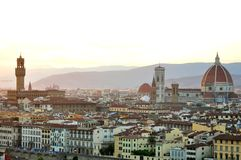 Florence city panoramic view , Italy Royalty Free Stock Photo