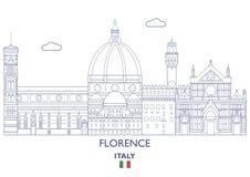 Florence City Skyline, Italië Royalty-vrije Stock Afbeeldingen