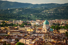Florence city during sunset Royalty Free Stock Photography