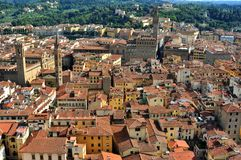 Florence city top view with old buildings , Italy Royalty Free Stock Photo