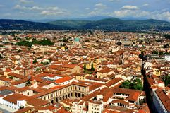 Florence city view from above  , Italy Stock Photos