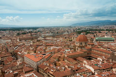 Florence - City view, aerial view of rooftops, from Bells Tower. View of rooftops in Florence royalty free stock photos