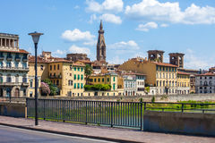 Florence city view with Basilica Sante Croce tower Stock Photography