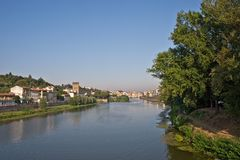 Florence cityscape. Florence and the Arno River Stock Photos