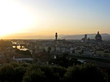 Florence Cityscape. View from Piazzale Michelangelo, Florence, Italy royalty free stock photo
