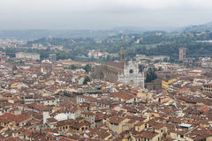 Florence cityscape with Basilica of the Holy Cross Stock Photography