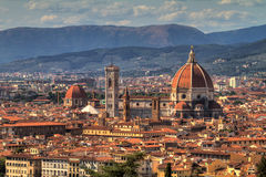 Florence cityscape Cathedral Stock Images