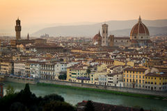 Florence, cityscape and Cathedral and Brunelleschi Dome Stock Photography