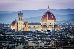 Florence, cityscape and Cathedral and Brunelleschi Dome Royalty Free Stock Photos