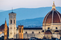 Florence, cityscape and Cathedral and Brunelleschi Dome Stock Photo