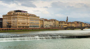 Florence cityscape in cloudy winter day, September of 2012, Italy Royalty Free Stock Photography