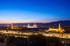 Florence cityscape at dawn Stock Image