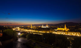 Florence cityscape at dawn Royalty Free Stock Photos