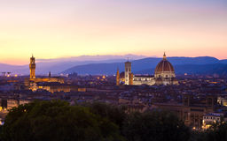 Florence cityscape at dawn Royalty Free Stock Photography