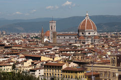 Florence cityscape with Duomo Santa Maria Del Fiore from Piazzal Stock Photo