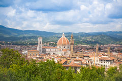 Florence cityscape with Duomo Santa Maria Del Fiore Stock Images