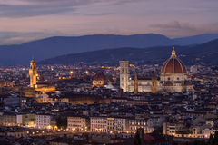 Florence, cityscape at dusk Royalty Free Stock Image