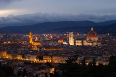 Florence Cityscape at Dusk royalty free stock images