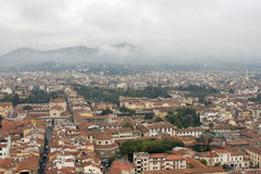 Florence cityscape in the fog Stock Photos