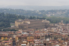 Florence cityscape in the fog Royalty Free Stock Image