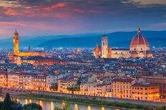 Florence. Cityscape image of Florence, Italy during dramatic sunset royalty free stock image