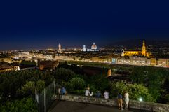 Florence cityscape - Italien Fotografering för Bildbyråer