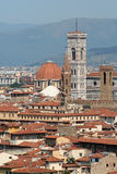 Florence Cityscape, Italy. Cityscape photograph of Florence in Italy, showing the Campanile and the dome from the Basilica di San Lorenzo Stock Images