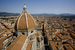 Florence cityscape Italy. General view of cityscape of Florence, Tuscany region, Italy. Basilica di Santa Maria del Fiore cathedral in foreground royalty free stock images