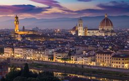 Florence Cityscape Italy City arkivbilder