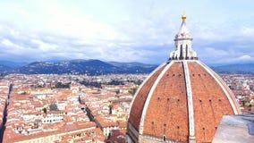 Florence Cityscape och kupol Fotografering för Bildbyråer