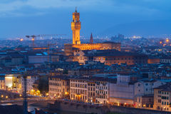 Florence cityscape with palazzo Vecchio Royalty Free Stock Photos