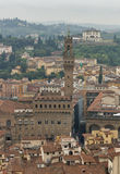 Florence cityscape with Palazzo Vecchio, Italy Stock Images