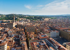 Florence cityscape with palazzo Vecchio Stock Photos
