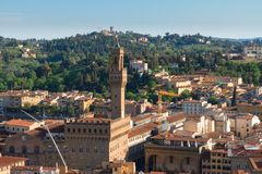 Florence cityscape with palazzo Vecchio Stock Image