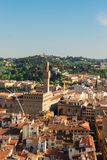Florence cityscape with palazzo Vecchio Royalty Free Stock Photography